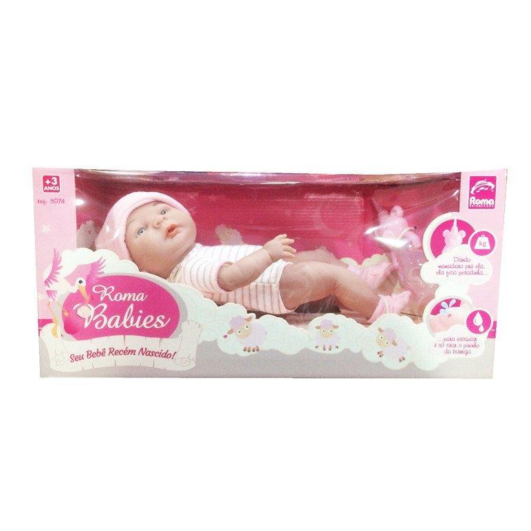 Boneca Roma Babies Recém Nascido - Roma 5074