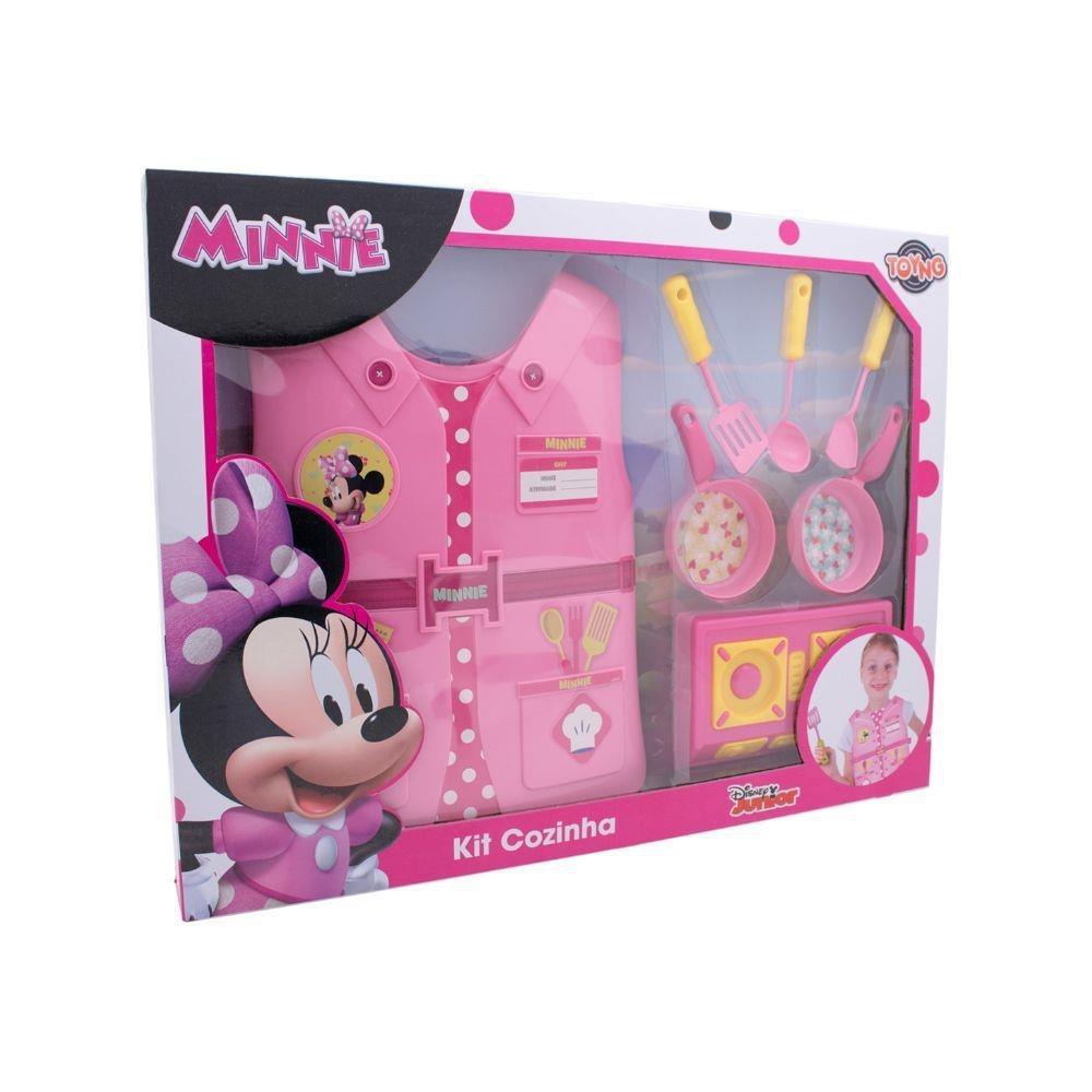 Jogo De Cozinha E Colete Minie Disney - Toyng 32383
