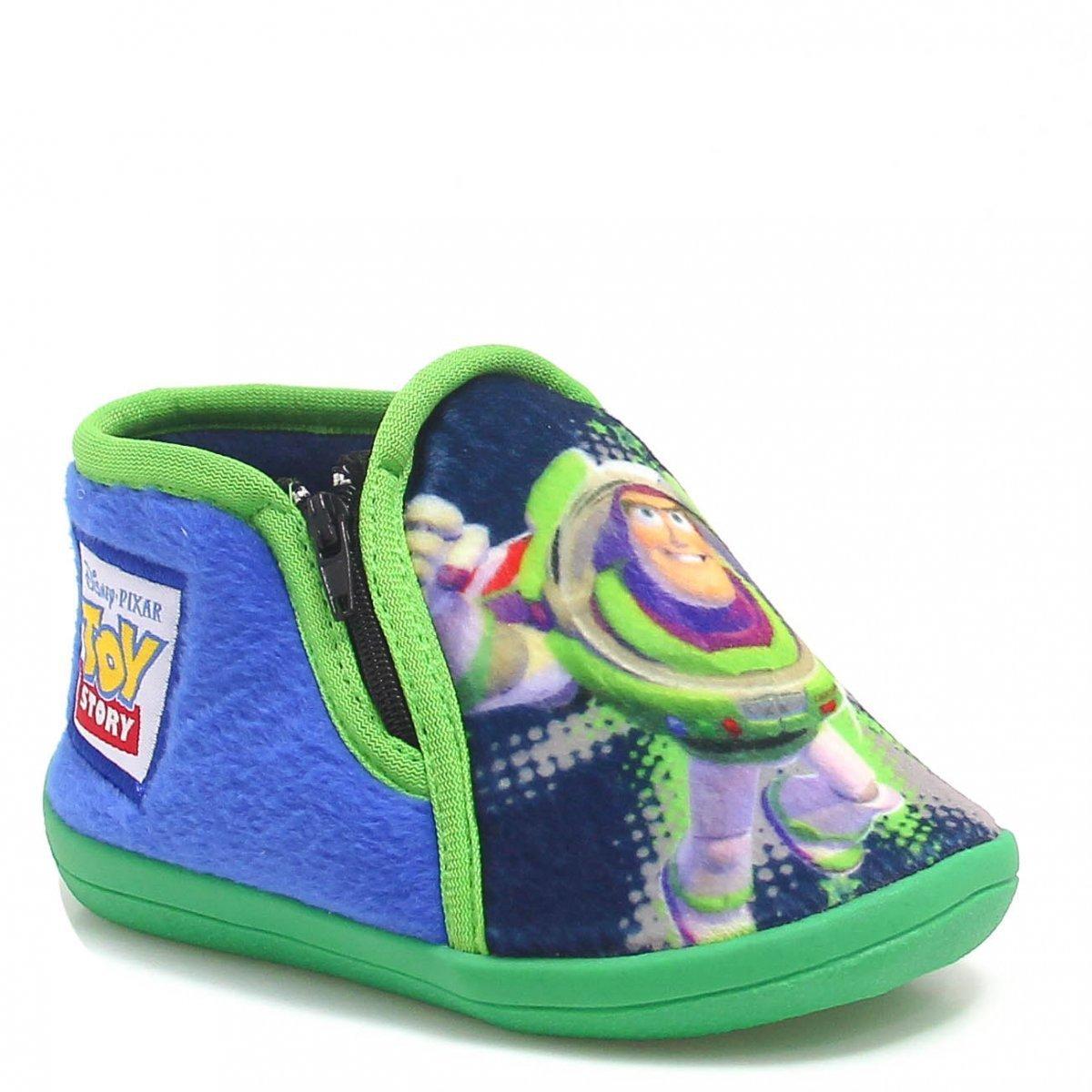 Pantufa Flat Infantil Buzz Lightyear Toy Story 27/28 - Ricsen 2527