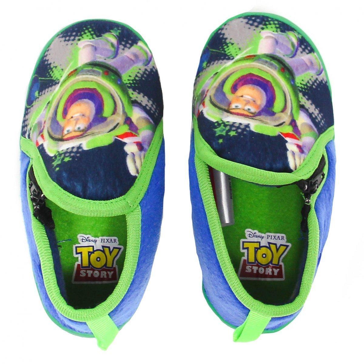 Pantufa Flat Infantil Buzz Lightyear Toy Story 23/24 - Ricsen 2000