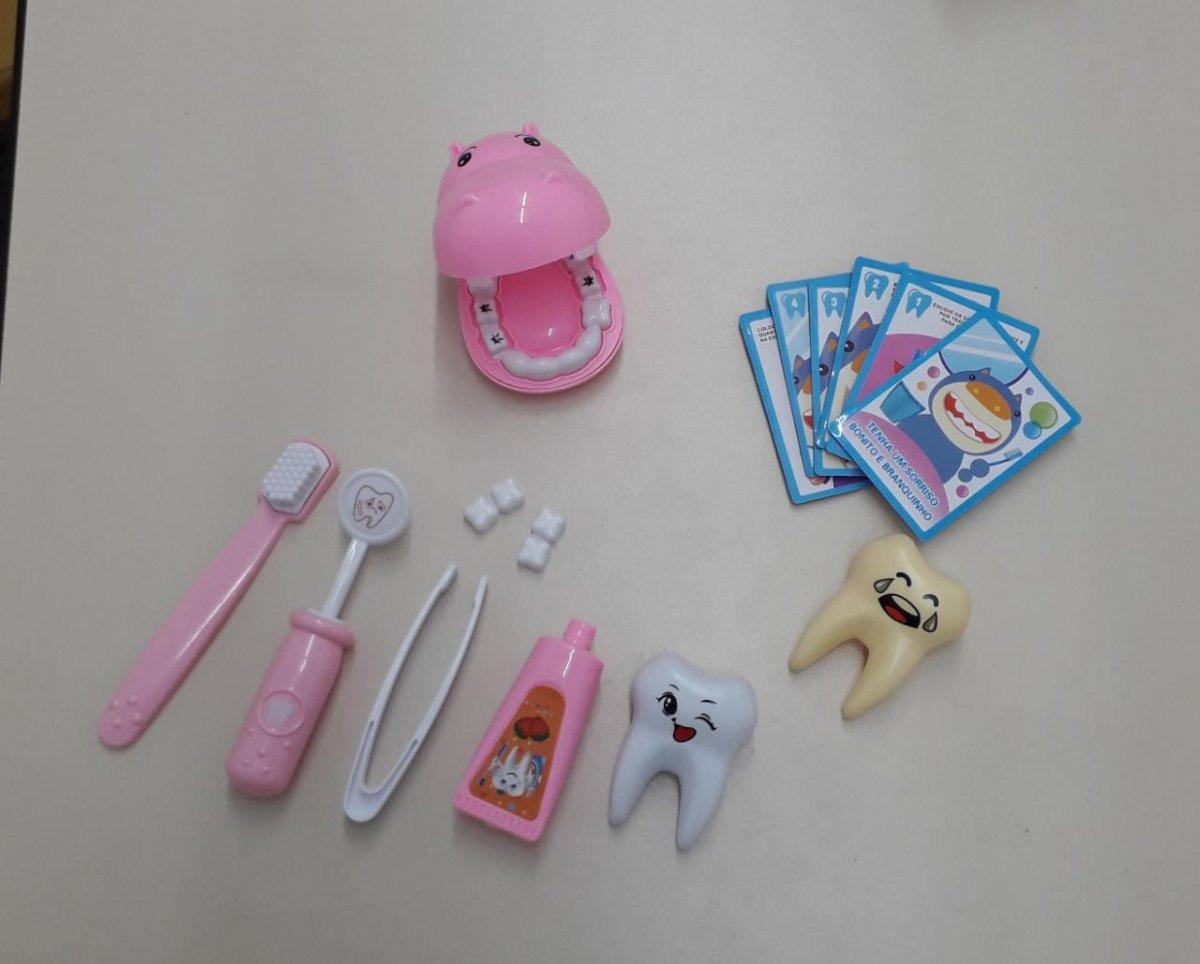 Kit Dentista Infantil Rosa 15 Peças - Fênix Dtf-539