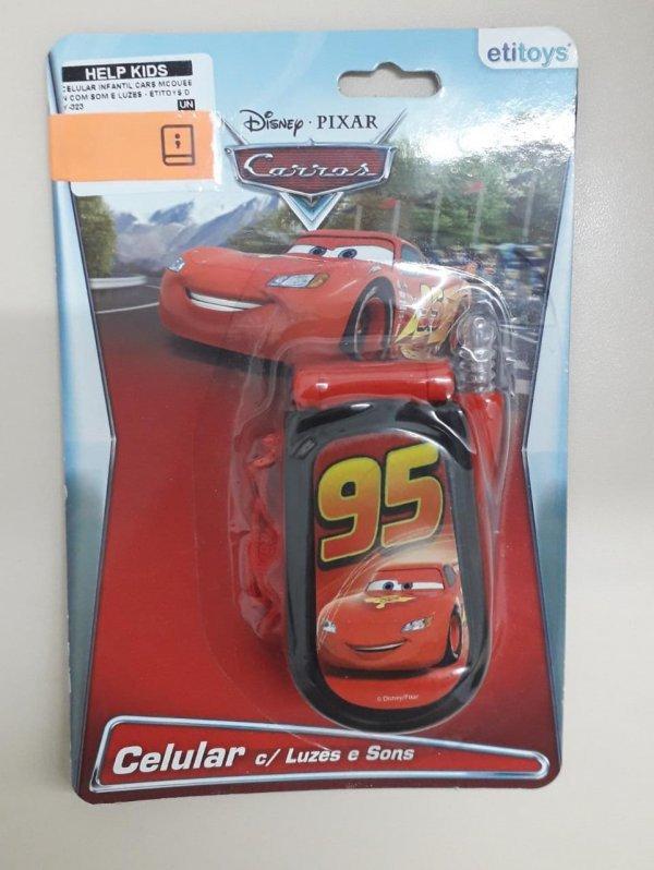 Celular Infantil Cars Mcqueen Com Som E Luzes - Etitoys Dy-323
