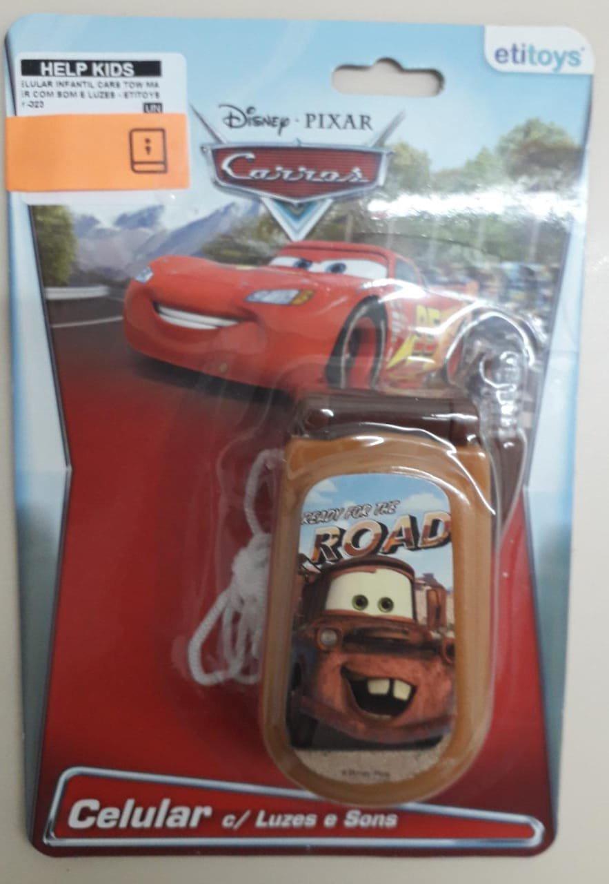 Celular Infantil Cars Tow Mater Com Som E Luzes - Etitoys Dy-323