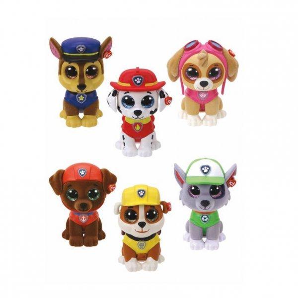 Coleção Kit Com 6 Mini Boos Ty Patrulha Canina - Dtc 4669