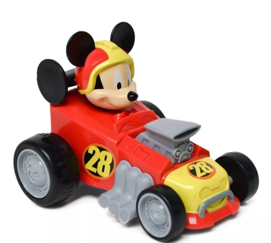 Kit Carro Com Posto Mickey Sobre Rodas - Toyng 33472