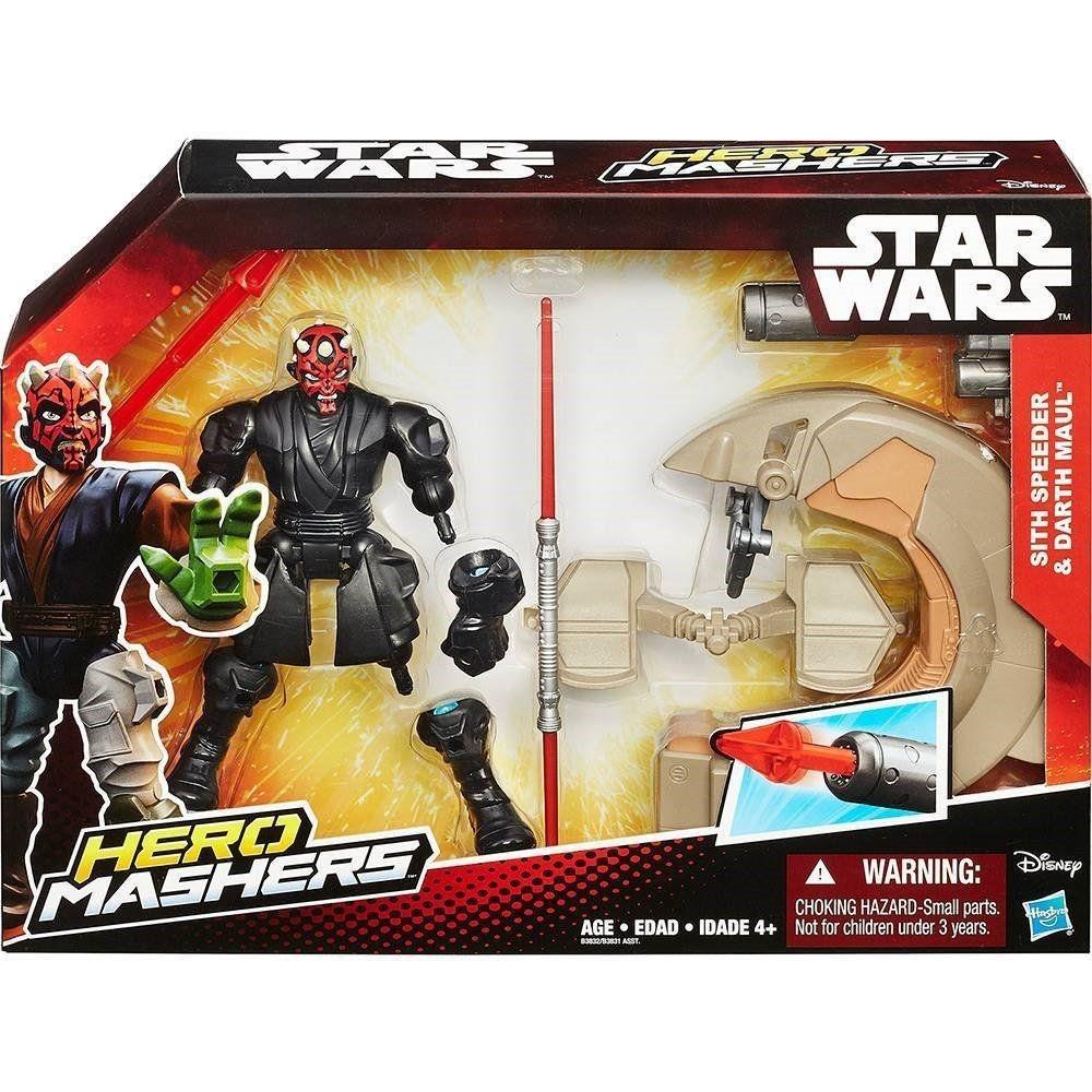 Star Wars Hero Mashers E Veículo Sith Speeder & Darth Maul - Hasbro B3832