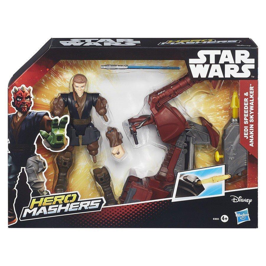 Star Wars Hero Mashers E Veículo Jedi Speeder & Anakin Skywalker - Hasbro B3833