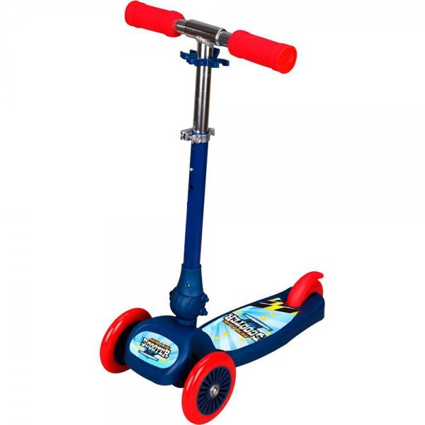 Patinete Scooter Net Mini Racing Club Azul Com Vermelho - Zoop Toys Zp00104