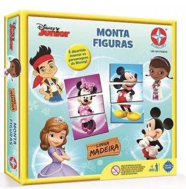 Jogo Monta Figuras Disney Junior - Estrela 700033