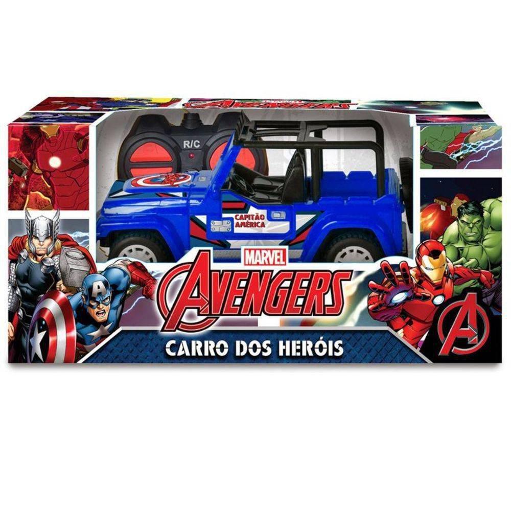 Carrinho De Controle Avengers Jipe Cross Capitão América Marvel - Mimo 3279