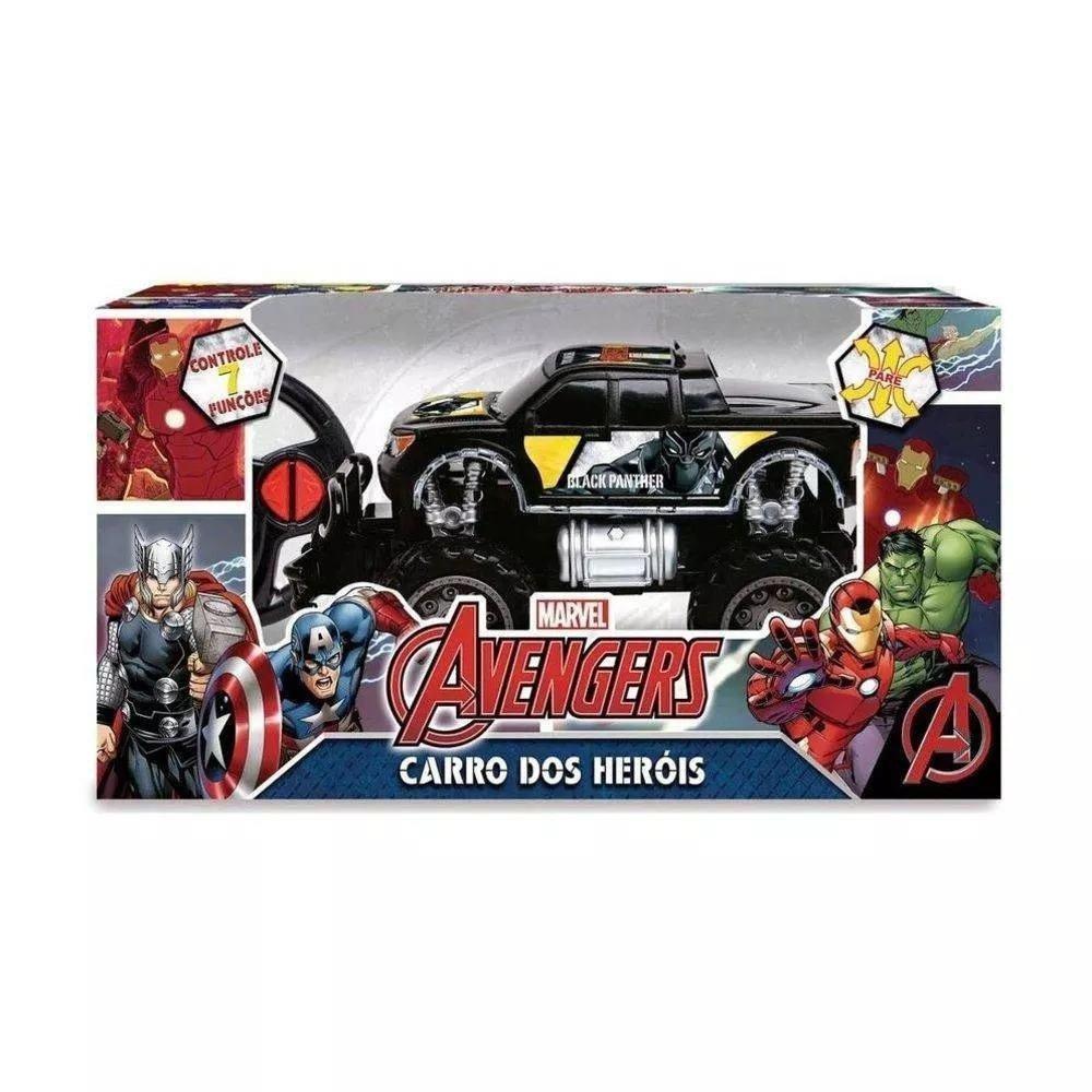 Carrinho De Controle Avengers Pick Up Cross Pantera Negra Marvel - Mimo 3278