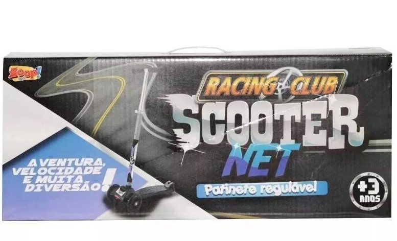 Patinete Scooter Net Max Racing Club Preto - Zoop Toys Zp00105