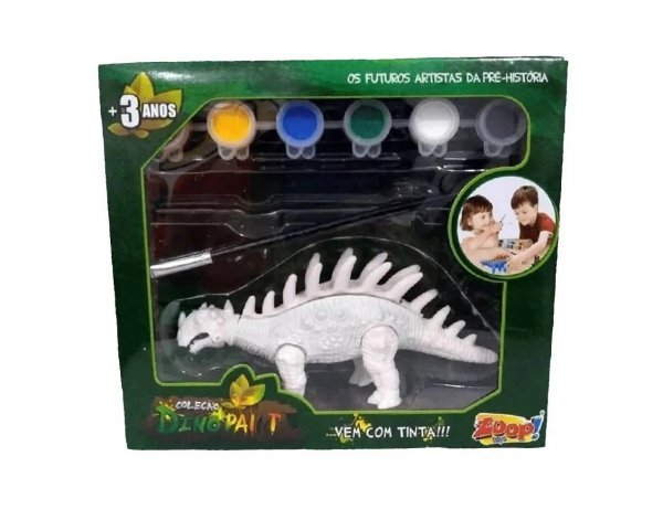 Dino Paint Dinossauro Para Colorir Anquilossauro - Zoop Toys