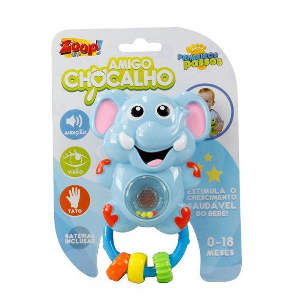 Chocalho Musical Zoops Amigo Elefante Som E Luz - Zoop Toys Zp00014
