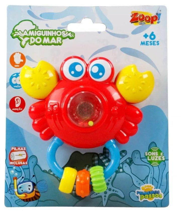 Chocalho Musical Coleção Amigos Do Mar Sirizinho Som E Luz - Zoop Toys Zp00142