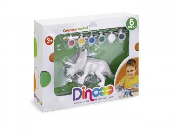 Dino Paint Dinossauro Para Colorir Triceraptops - Zoop Toys