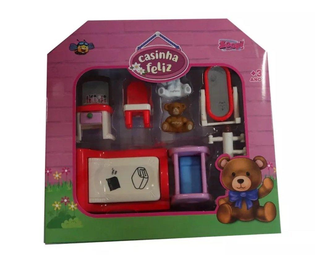 Miniaturas Para Brincar Happy Family Móveis Do Quarto - Zoop Toys Zp00243