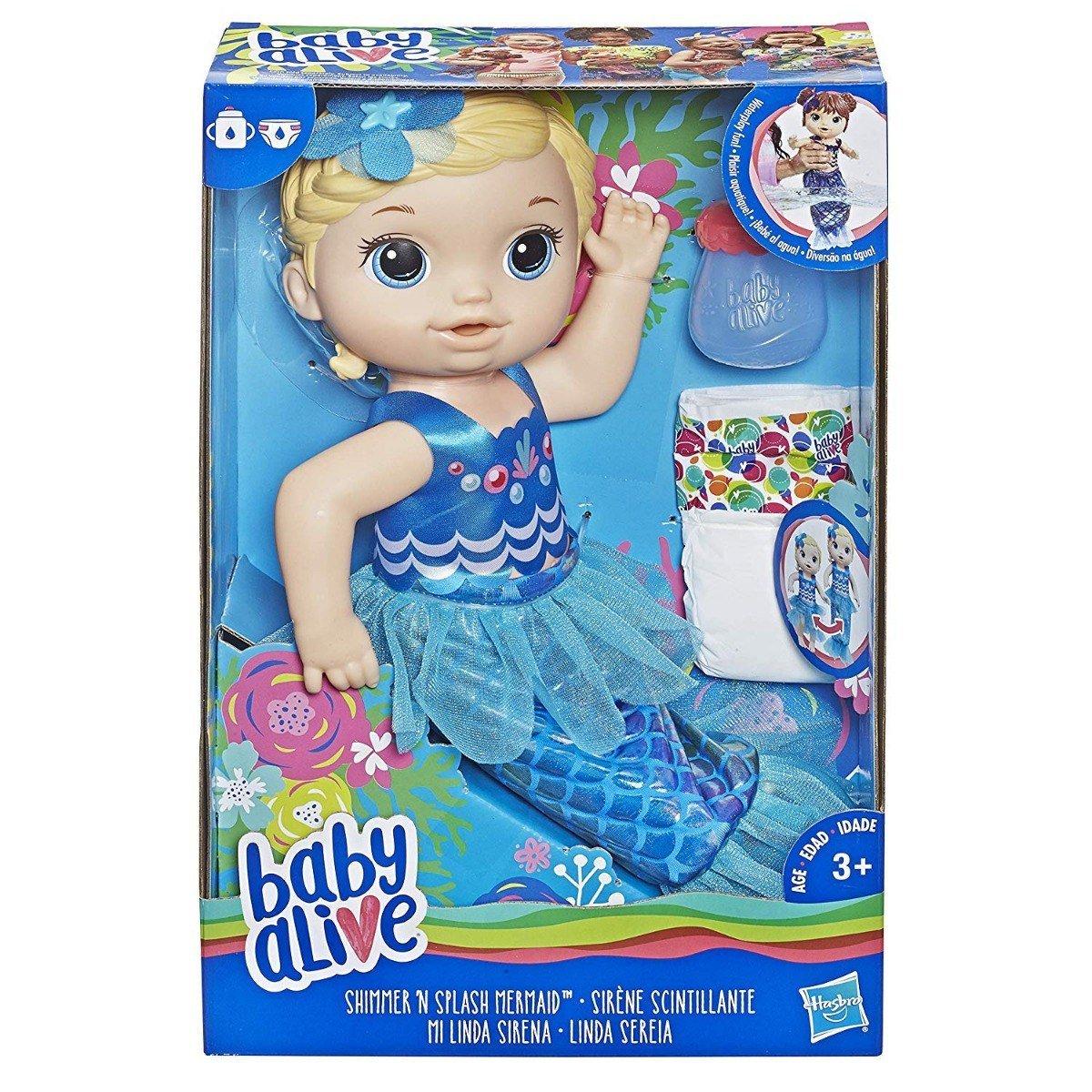 Boneca Baby Alive Linda Sereia Loira - Hasbro E3693