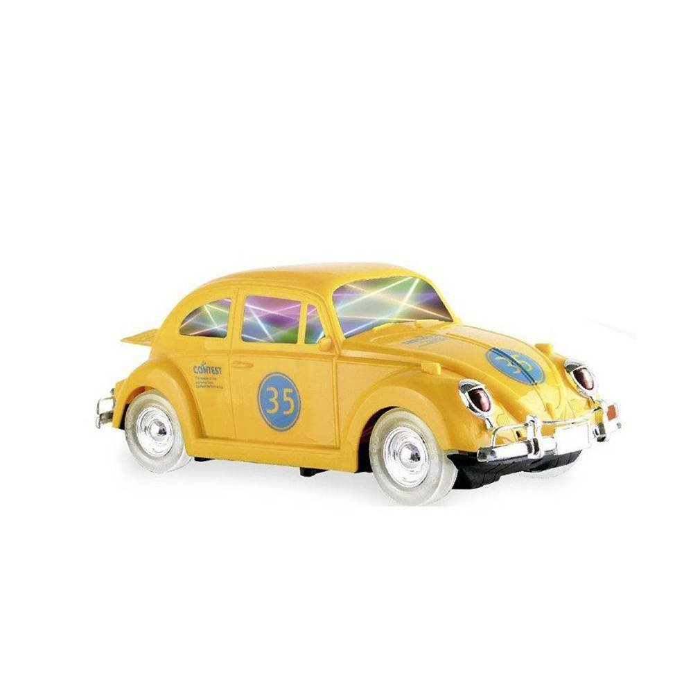 Fusca Amarelo Bate E Volta Som E Luzes - Zoop Toys Zp00221