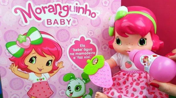 BONECA BABY MORANGUINHO FAZ XIXI - MIMO 4006