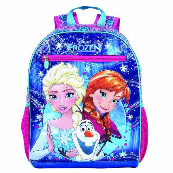 Mochila De Costas Frozen Disney Rosa E Azul - Dermiwil 51965