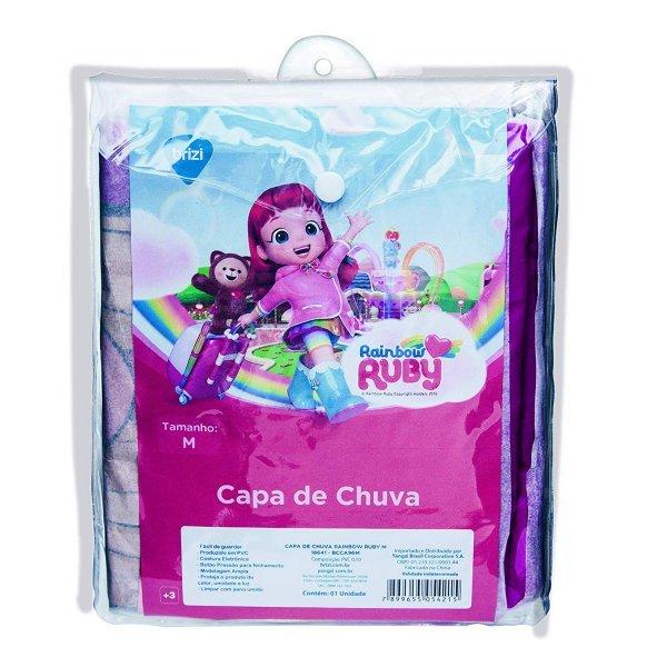 CAPA DE CHUVA INFANTIL RAINBOW RUBY TAMANHO M - BRIZI 18640-BCCA96M