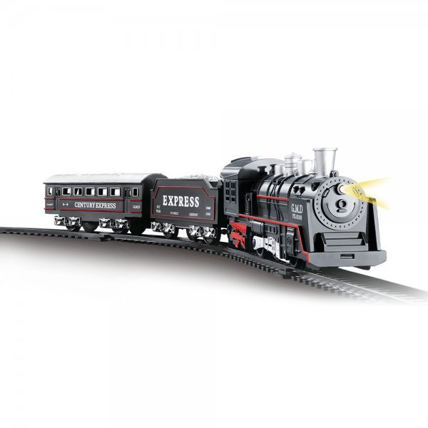 Trem Locomotiva Com Trilhos Com Luz E Som - Dmtoys Dmt5373
