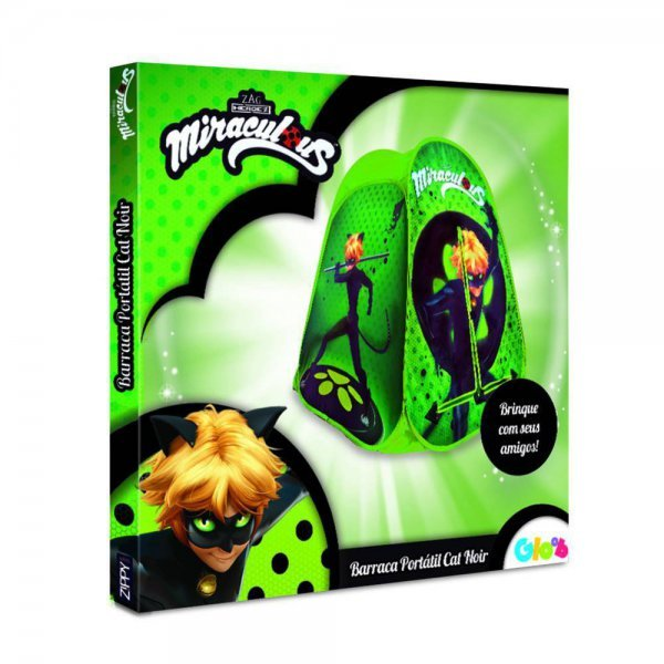 BARRACA PORTATIL MIRACULOUS CAT NOIR - ZIPPY TOYS BP17CN