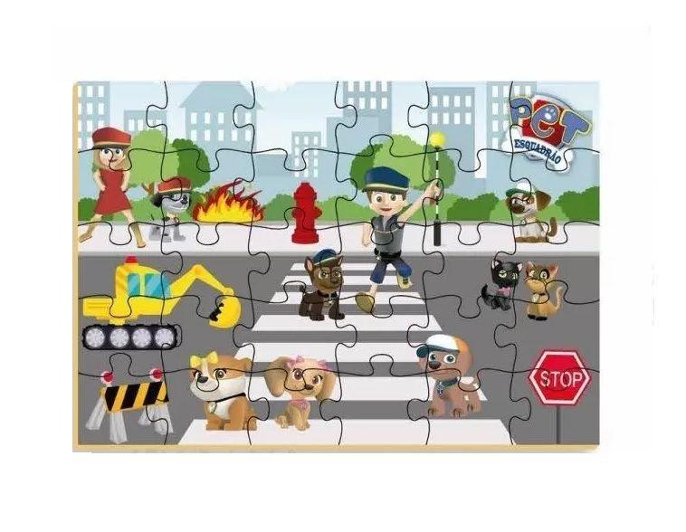 Quebra Cabeça Esquadrão Pet 30 Peças - Brincadeira De Criança 0510