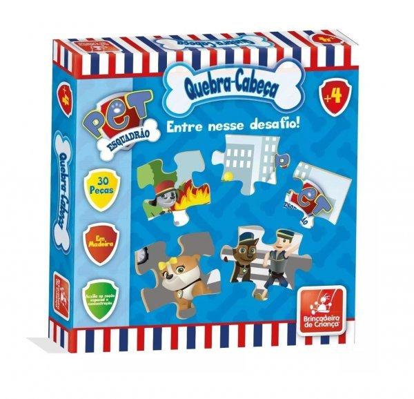 Quebra Cabeça Esquadrão Pet 30 Peças - Brincadeira De Criança
