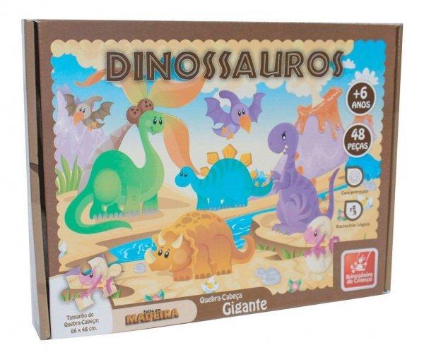 Quebra Cabeça 48 Dinos - Brincadeira De Criança 8498