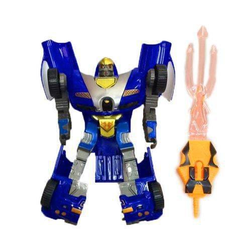 Robô Transformavel Robot Warriors Azul - Zoop Toys Zp00172