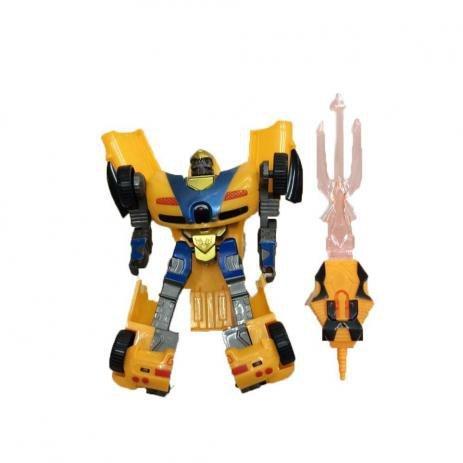 Robô Transformavel Robot Warriors Amarelo - Zoop Toys Zp00172