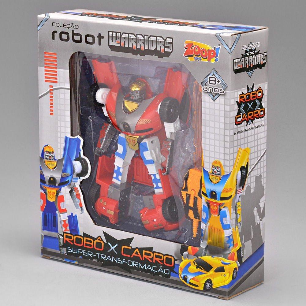 Robô Transformavel Robot Warriors Vermelho - Zoop Toys Zp00172