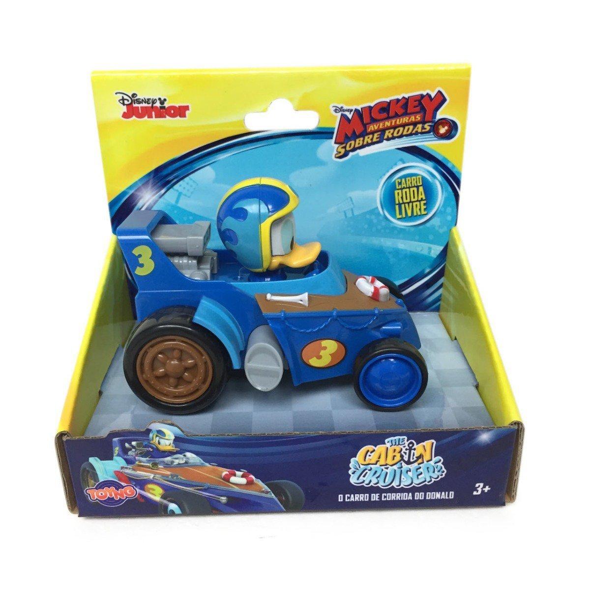 Carrinho Pato Donald - Mickey Aventuras Sobre Rodas - Hot Road - Toyng 33450