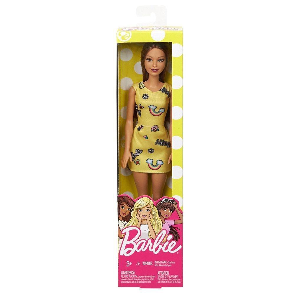 Boneca Barbie - Loira Fashion And Beauty Vestido Amarelo - Mattel Fjf17
