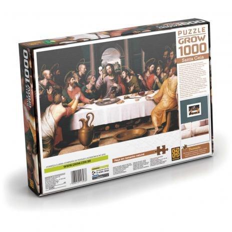 Quebra Cabeça Santa Ceia 1000 Peças - Grow 01393