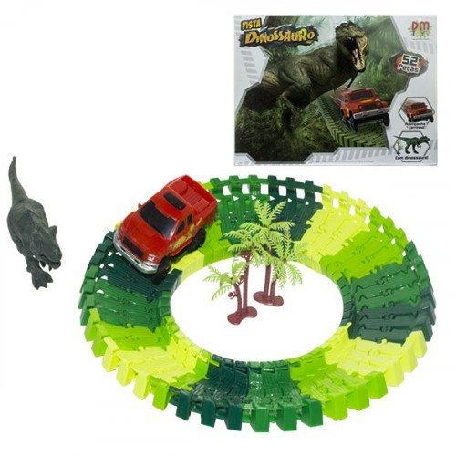 Pista Dinossauro Track 52 Pcs - Dmtoys Dmt5575