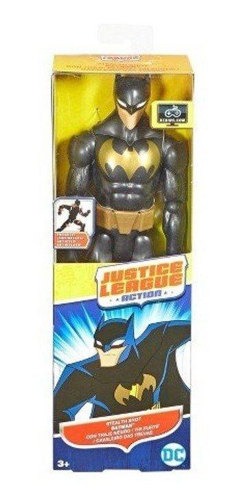 BONECO BATMAN DC COMICS LIGA DA JUSTIÇA 30CM PRETO E DOURADO