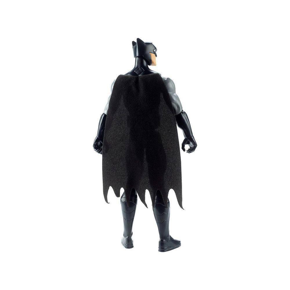 Boneco Batman Dc Comics Liga Da Justiça 30cm Preto E Cinza - Mattel Fjj97