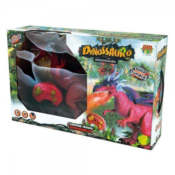 BONECO DRAGOSSAURO FUMACA COM - DM TOYS DMT5568