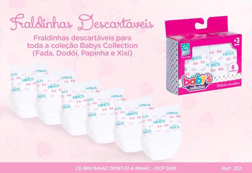 Fraldinhas Descartáveis Babys Collection - Super Toys 351