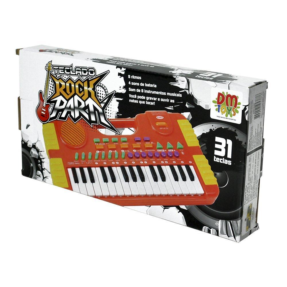 Teclado Musical Infantil Pequeno Rock Party - Dmtoys Dmt5387