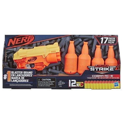 Nerf Lançador Alpha Strike Cobra Rc-6 Kit Com Alvos - Hasbro E7858