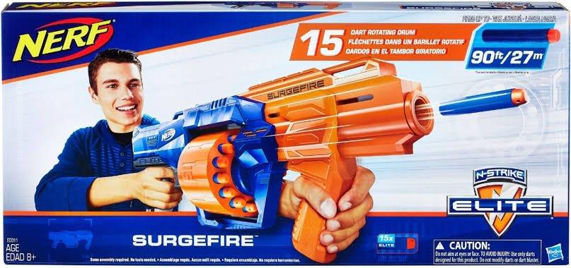 Nerf Surgefire N-strike Elite Lançador De Dardos - Hasbro E0014