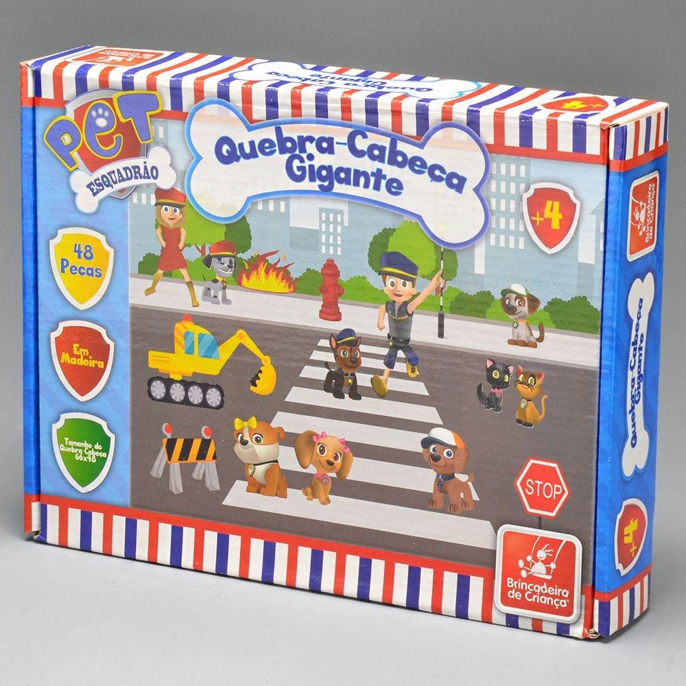 Quebra Cabeça 48 Peças Esquadrao Pet - Brincadeira De Criança 0558