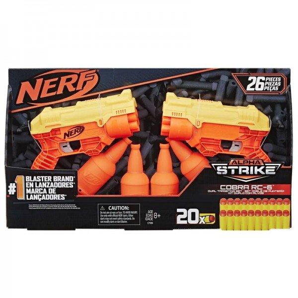 Nerf Lançador Alpha Strike Cobra Rc-6 Kit Duplo Com Alvos - Hasbro E7566