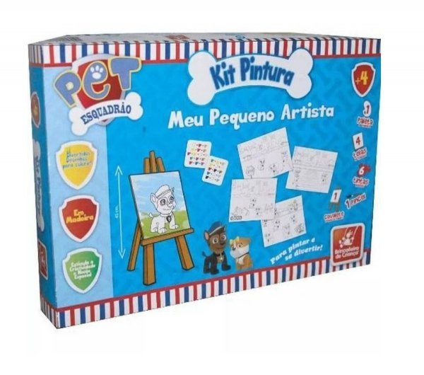 Kit Pintura Esquadrão Pet - Brincadeira De Criança