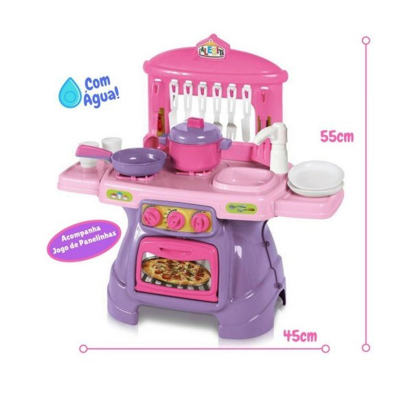 Cozinha Mini Chef Rosa Com Água - Calesita 0317