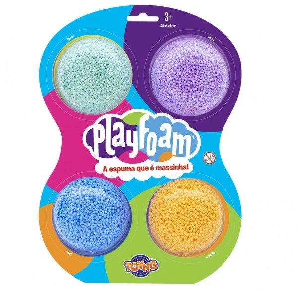 Massinha De Modelar De Espuma Foam Playfoam 4 Pack - Toyng 040039